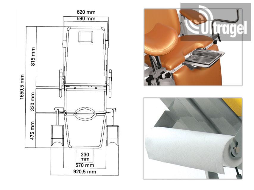 Gynex Professional nőgyógyászati vizsgálószék több színben - UG235956 de13ed624b