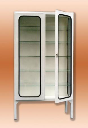 Fém műszerszekrény- 2 ajtós