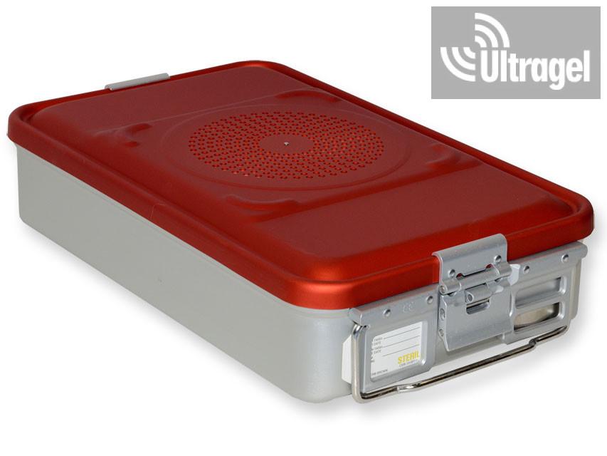 Sterilizáló doboz, filteres, közepes - piros, több méretben