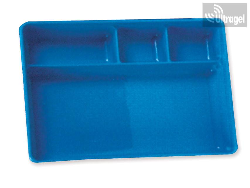 Műszertálca rekeszes műanyag 270x180x41 mm