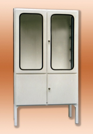 Fém műszerszekrény-, 2-2 ajtós