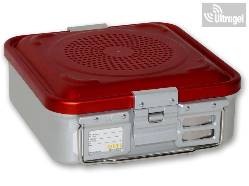 Sterilizáló doboz, filteres, kicsi - piros, több méretben