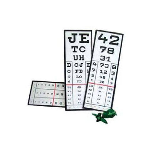 Látásvizsgáló papírmasé 22cm x 63,5cm - több változatban - UG206314