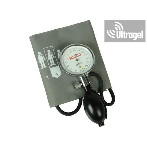 SIRIO vérnyomásmérő - szürke/zöld tépőzáras mandzsettával